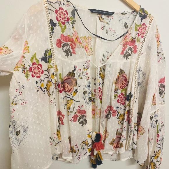 Boho floral Zara blouse